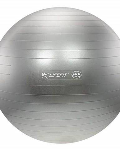 Gymnastický míč LIFEFIT ANTI-BURST 55 cm, stříbrný