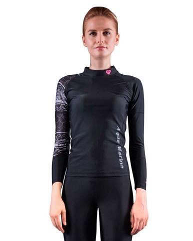 Dámske tričko pre vodné športy Aqua Marina Illusion čierna - XL