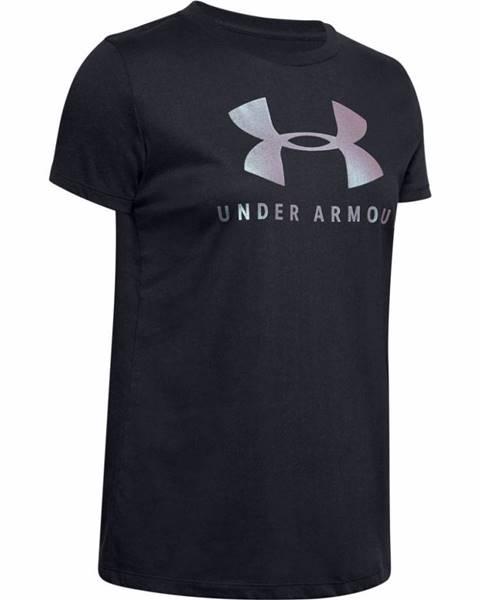 Under Armour Dámske tričko Under Armour Graphic Sportstyle Classic Crew Black-Chrome - S